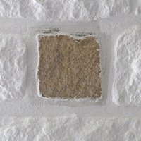 Remove paint from stone walls